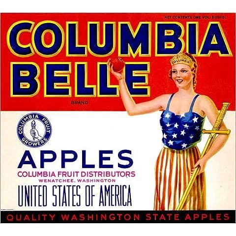 Stampa su legno 110 x 100 cm: Columbia Belle