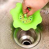 Merssavo Silikon Abflusssieb für Wasch-Schalen, Waschbecken, Badewannen, Stall Duschen und Wäscherei-Wannen