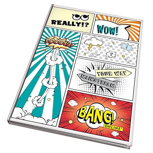 Comic-buch-tasche Und Karton (Online Schreibgeräte - Kladde Comic Style DIN A5, kariert, 96 Blatt, 80 g/m²)