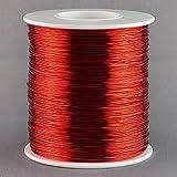 Aimant Fil Calibre 22AWG en cuivre émaillé 500Pieds Bobine d'enroulement 155°C Rouge
