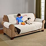 #4: Swarish Reversible Couch Cover for Dogs Kids Pets Sofa Slipcover Set Furniture Protector