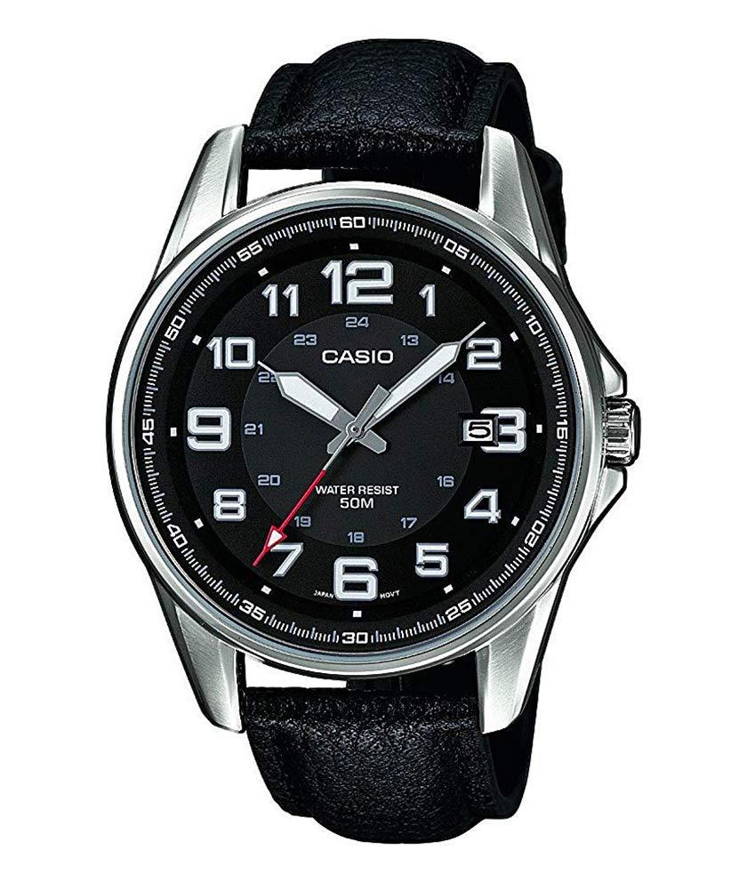 Casio Reloj Analógico para Hombre de Cuarzo con Correa en Cuero MTP-1372L-1BVEF