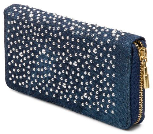 styleBREAKER Designer Jeans Geldbörse mit Strass Applikation 02040015, Variante-3 (Strass-pocket-jeans)