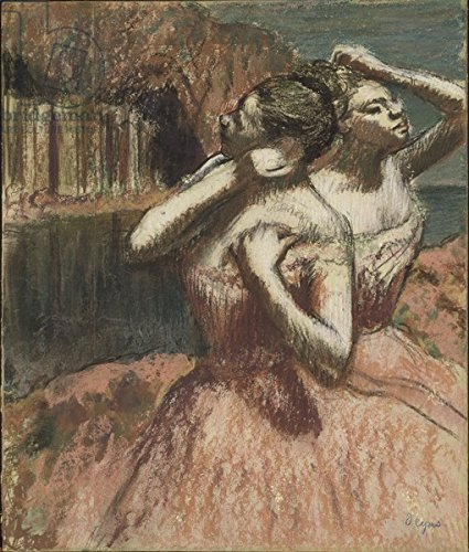 "Poster-Bild 50 x 60 cm: ""Two Dancers (pastel on paper mounted on cardboard)"", Bild auf Poster"