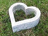 """'designgrab """"Cuore Grab rigida 30x 30cm in granito viscont White/madanp Alli Cimitero Tomba Tomba Tomba rigida–vaso Cuore gioielli Granito vaso per fiori–vaso Cuore rigida"""