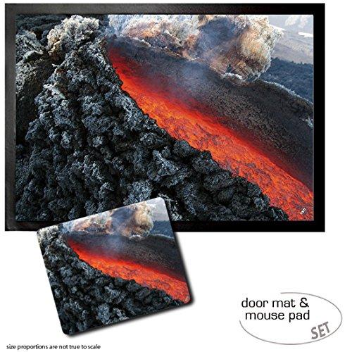 set-1-fussmatte-turmatte-70x50-cm-1-mauspad-23x19-cm-vulkane-lavafluss-bei-atna-vulkanausbruch-sizil