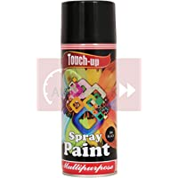 Touch Up Spray Paint Black - Ready to Use Aerosol Spray Paint for Car Bike Spray Painting Home & Furniture - 400 ML