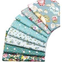 8 piezas de 40 cm x 50 cm, tela de algodón superior para acolchar cojines