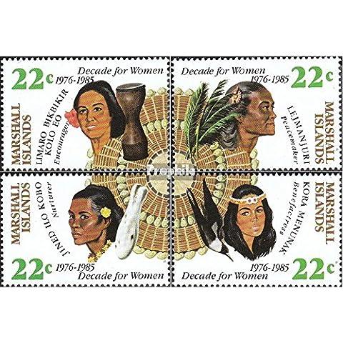 Marshall-Isole 46-49 (completa.Problema.) 1985 Dieci anni per le donne (Francobolli )