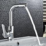 Retro Deluxe fauce tinging neueste orientable 360° en cuivre robinet de baignoire à eau froide Mixer Home Robinet standard Super Finition Robinet, Argenté