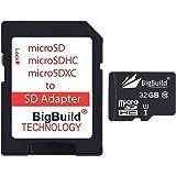 BigBuild Technology 32 Go Ultra Rapide Class 10 80Mo/s MicroSD Carte mémoire pour VTech Kidizoom caméra, Adaptateur SD Inclus