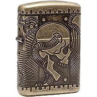 Zippo Armor Steam Punk Skull Windproof Pocket Lighter - Antique Brass