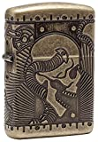 Zippo Sturmfeuerzeug 60002848 Skull Multi Cut - Armor Antique Brass - Special Editions 2016/2017