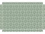 YOURDEA - Möbeltattoos für IKEA Lack Tisch Beistelltisch Couchtisch mit Motiv: Damast Grün inklusive Rakel