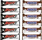 Mars & Snickers Protein Riegel Von Mars Proteinbar Eiweißriegel Eiweiß Whey (Snickers & Mars Mix Box 6x Mars & 6x Snickers)