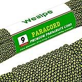Wealpe Paracord 550 Kernmantel Seil Nylon Schnur Fallschirmschnur mit 9 Strängen Reißfestem Survival Seil - 620lb Bruchfestigkeit (31M)