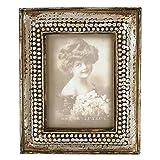 Clayre & Eef 2791 Fotorahmen Bilderrahmen Antik Design Silber Gold Platiniert Ca. 6 x 9 cm