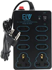 ELV Extension Board 6 Amp 8 Plug Point with Master Switch, LED Indicator, Extension Cord(2.2 Meter)-Black