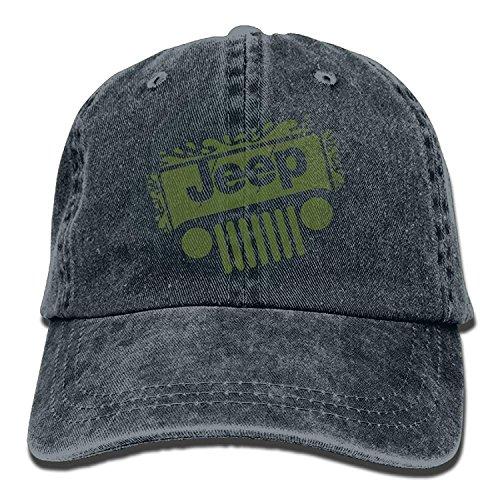 Hoswee Unisex Kappe/Baseballkappe, Jeep Denim Hat Adjustable Men's Funny Baseball Caps