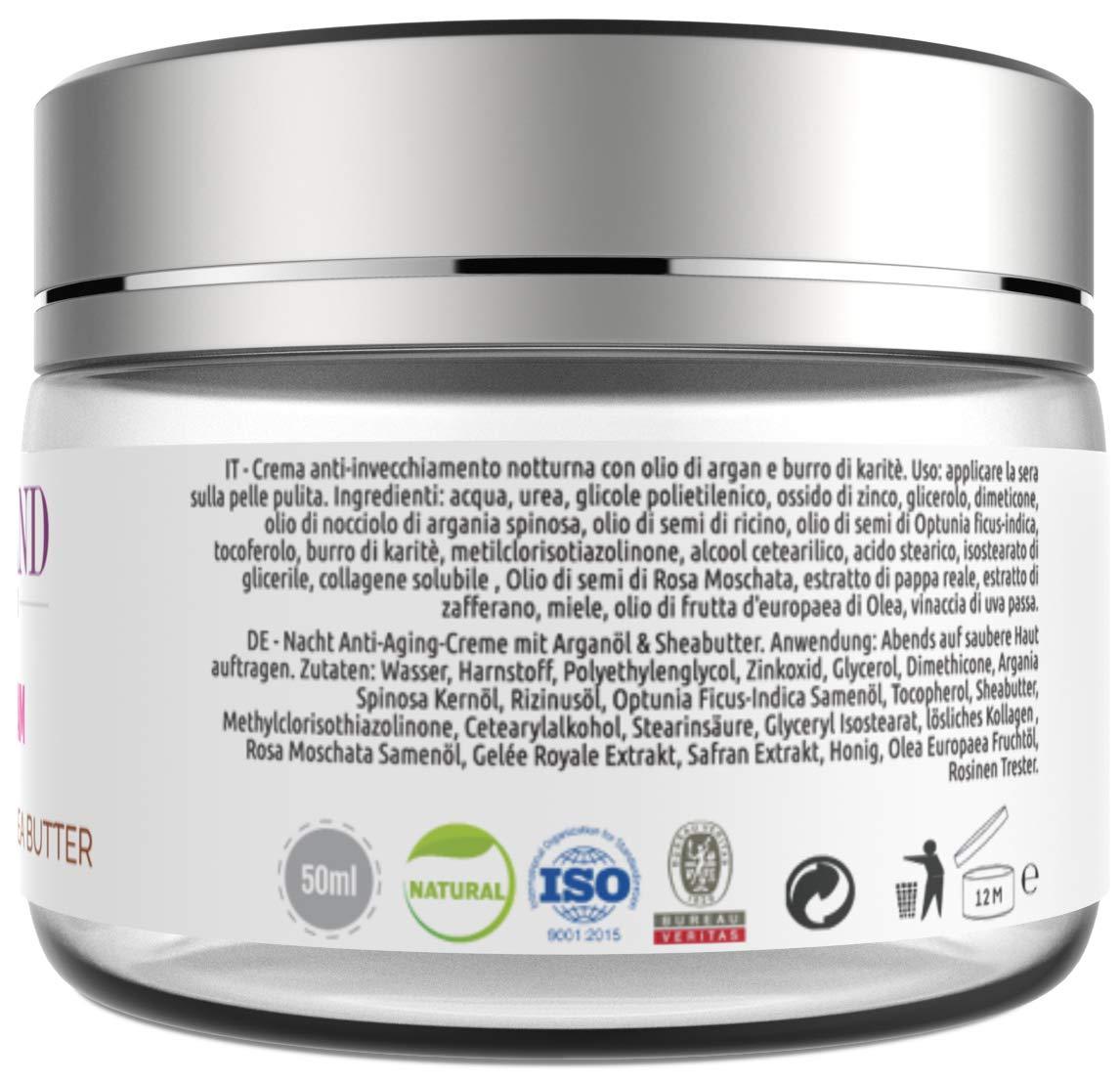 Crema Facial Antiarrugas y Antienvejecimiento con Aceite de Argán Orgánico 100% Marroquí y Manteca de Karité para Día y Noche (Original de Marruecos) 50 ml