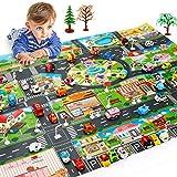 YRE Gioco per Bambini Mat Città Mappa del Traffico, Home Traffic Signs Mappa Scena, Outdoor Portable attività Gioco stuoia
