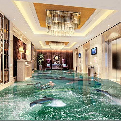 Fototapete 3D Effekt Benutzerdefinierte Bodenbelag 3D Großen Strand Wellen Wohnzimmer Einkaufszentrum Unterhaltung 3D Bodenfliesen Malen 400X280Cm