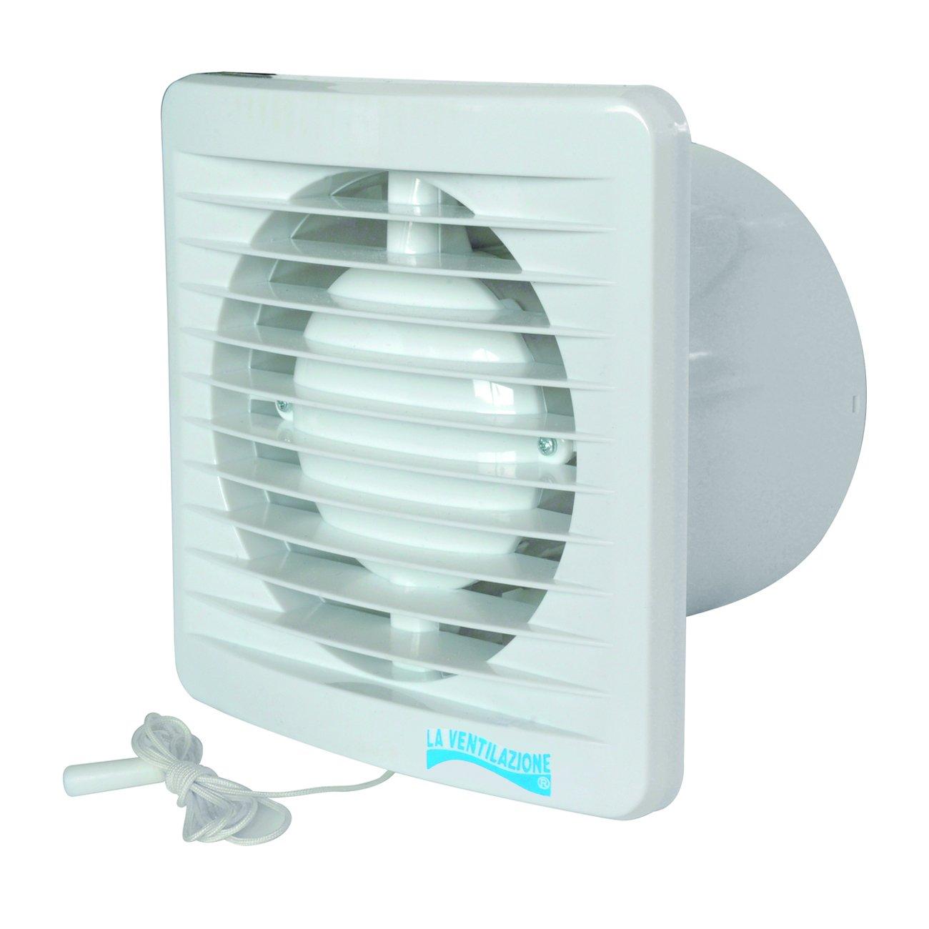La Ventilazione AA10FS Aspiratore Elicoidale con Interruttore a Tirante per Foro diametro 100 mm /