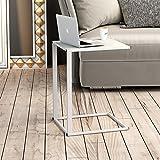 Keinode Computerschreibtisch C-Form Metallgestell Holztisch Sofa Snack Schreibtisch PC Laptop Halter Bett Seite Arbeitsplatz schwarz weiß
