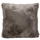 Winter Home Webpelzkissen *Seal Taupe* kuschlig weich Dekokissen Kissen Fellkissen Kunstfell XXL 60 x 60 cm