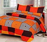 #7: Fashion Hub Grace Cotton King Size Double Bedsheet, 1 Bedsheet And 2 Pillow Covers Tm