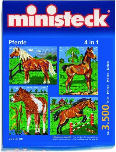 Imagen principal de Ministeck 31301 - Piezas de adorno para diseño de caballo con fondo (aprox. 3.500 piezas) [Importado de Alemania]