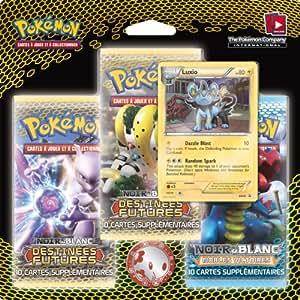 Asmodee - 3PACK01BBW4 - Jeu de cartes à jouer et à collectionner - Pack 3 Boosters Pokémon - Destinées Futures