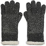styleBREAKER warme Handschuhe mit Strass und Fleece, Winter Strickhandschuhe, Damen 09010010
