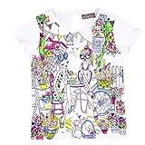 Bóboli Mädchen Knit T-Shirt For Girl, Weiß (White 1100), 140 (Herstellergröße: 10)