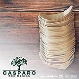 50 x Snackschalen natur 22cm | 100% kompostierbar | edel & dekorativ | Bio Einweg-Geschirr | Einwegschalen perfekt für Finger-Food | Party-Geschirr Holzschiffchen - 6