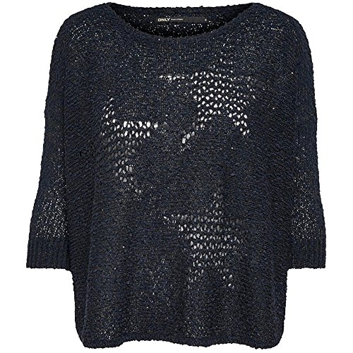ONLY - Maglia donna loose fit jessica 3/4 pullover Blue scuro