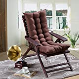 #9: AMZ Premium Quality Soft Home Office Cotton Seat Cushion Long Chair Pad Seat Pad Cushion Indoor Outdoor Dining Home Office Garden Decor (Brown,48 x 18 inches,Set of 1)