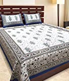 Esoft 100% Cotton Jaipuri King Size Doub...