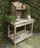 Pflanztisch Gartentisch Cafe & Legumes mit Aufsatz Shabby Stil Holz Gusseisen