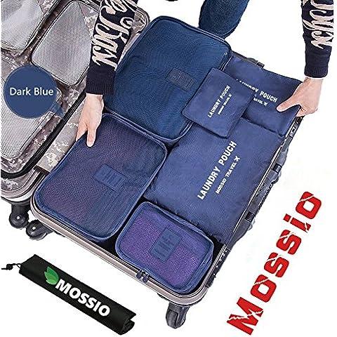 Mossio Cubos 7 Conjunto de embalaje con el bolso del zapato - Compresión del equipaje del viaje del organizador