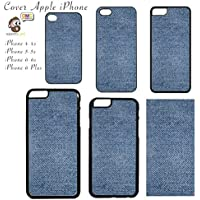 Cover Apple iPhone con Stampa Stampa Blue Jeans Trama Chiara - Apple iPhone 6 Plus