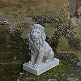 Herrlicher Löwe Torwächter Blickrichtung links aus Steinguss, frostfest