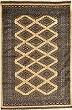 CarpetVista Pakistan Buchara 2ply Teppich 121x190 Orientalischer Teppich