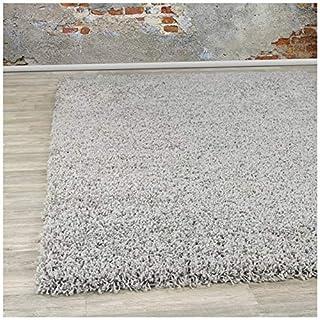 A2Z Rug Pera Shaggy Luxury Super Soft 5 cm  Pile Thickness 120 X 170 cm  - 3'9'' X 5'5''ft Plain Silver Grey Shag Medium Area Rugs