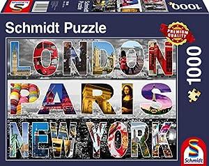 Schmidt Spiele Puzzle 58348London, Paris, New York, Puzzle de 1000Piezas