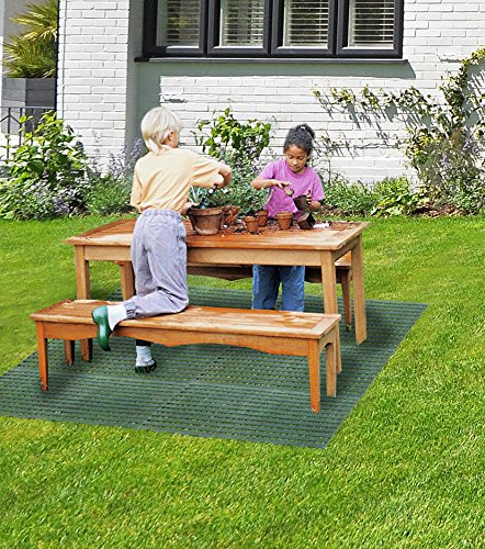 UPP® Haus- & Gartenmatte/ Bodenrost/ Bodengitter/ Arbeitsmatte/ Bodenmatte/ Terrassenplatten/ Gartenweg/ Beetplatten/ Bodenplatte (4)