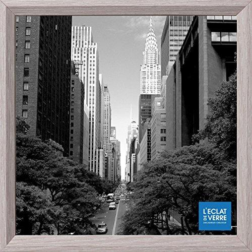 L'Éclat de Verre Cadre carré 30x30 cm Gris Clair - Cadre Photo, Cadre pour Affiche, Cadre pour Poster - Fabriqué en France