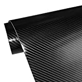 "4D Carbon Fiber Adhesive Car Vinyl Wrap Sticker with Air Release 11.5""x60""(Black)"