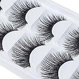 10 Paar Falsche Wimpern Fake Eyelashes Halloween Natürliche Lange Augen Wimpern Make-up