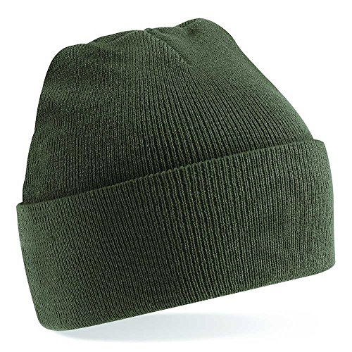 Beechfield Unisex Knitted hat Olive